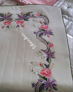 Gunumuz Aydin Ve Bereketli Olsun Hand Embroidery Patterns, Baby Knitting Patterns, Cross Stitch Embroidery, Cross Stitch Borders, Cross Stitch Designs, Cross Stitch Patterns, Cross Stitch Cushion, Free To Use Images, Floral Bedding
