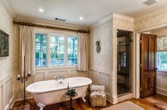 Beautiful Claw foot tub in this Elegant Connecticut home