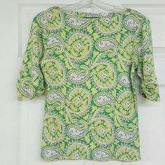 Ralph Lauren paisley pattern blouse Pictures do not do justice to how cute this top is. It has a boat neck and sleeves that can be cuffed up or worn down. This top is in excellent condition and comes from a pet and smoke-free home. Lauren Ralph Lauren Tops Blouses