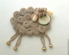 Овечка Sheep Crafts, Felt Crafts, Easter Crafts, Fabric Crafts, Crafts To Sell, Diy And Crafts, Crafts For Kids, Arts And Crafts, Sisal