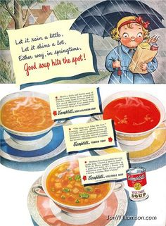 Campbell's Soup - 1948 This Campbell's Soup person looks like she has a goiter