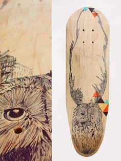 Skateboard recycl and longboard by Cheyenne Illustration