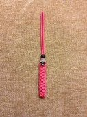Pink Lanyard, can be used as a key lanyard, or knife lanyard, or ever a flashlight.