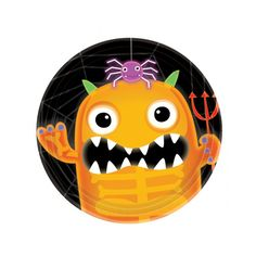 Platos desechables para una fiesta Halloween con mucho color! De www.fiestafacil.com, €3,45 para 8 / Paper plates for a colourful Halloween party! From www.fiestafacil.com
