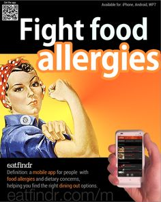 Food allergies? Try the Eatfindr app to find health conscious eating choices. Now live on Android and Windows Phone marketplaces, coming soon to Windows 8 marketplace!