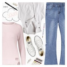 """""""Back To School"""" by pokadoll ❤ liked on Polyvore featuring Converse and Metaphys"""