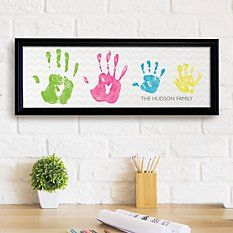 Need a unique gift? Send Handprint Canvas Set and other personalized gifts at Personal Creations. Family Art Projects, Canvas Art Projects, Family Crafts, Diy Craft Projects, Baby Canvas, Family Canvas, Homemade Gift For Grandma, Family Hand Prints, Handprint Art