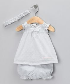 Take a look at this Gray Bow Swing Top Set by Calvin Klein on #zulily today!