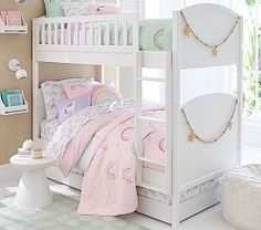 Color their sleep space with our Molly Rainbow Bedding Look. Boasting a pop of bright hues and sweet rainbow icons, this look brings happy, colorful vibes to their room. DETAILS THAT MATTER Rainbow Bedding, Rainbow Quilt, Rainbow Room, Kids Bedding Sets, Comforter Sets, Frozen Quilt, Fantasy Bedroom, Childrens Beds, Big Girl Rooms