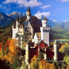Neuschwanstein Castle, Germany. The inspiration for Sleeping Beauty's castle!