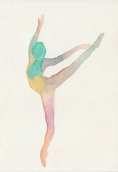 Saatchi Online Artist: Arya Sukapura Putra; Watercolor, 2013, Painting Ballet #4 $350