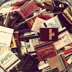 Vintage matches 5/$1. #antiquesetc #dtupland #downtownupland #vintage #vintagematches by antiques_etc