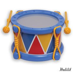 70807 Tambor baby HALILIT Fuerte y de diseño innovador. Sonido excelente y alta resistencia. Enséñale a tu hijo lo divertido que es tocar un instrumento con este tambor para niños. Incluye un par de baquetas diseñadas especialmente para su seguridad. ¡Ideal para las manos mas pequeñas! Medidas: 11,5 x Ø17,5 cm