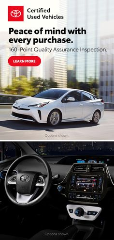 Peace of mind with every purchase. Toyota Usa, Used Toyota, Toyota Cars, Toyota Prius, Old Lorries, Beetle Convertible, Street Racing Cars, Spanish Style Homes, Fancy Cars