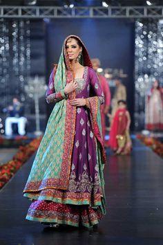Follow: ahaq95.... Nida Azwer, Pakistani Bridal Couture Week