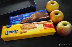 Prăjitură fără coacere cu mere, biscuiți și budincă de vanilie | Savori Urbane Butter, Chor, Sweets Recipes, I Foods, Biscuits, Bakery, Cheesecake, Deserts, Cheesecakes
