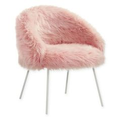 The high quality steel Faux Fur Chair by Inspired Home will be the perfect seating addition to your home. The full back and medium cushion of this chair will give you lots of support and keep you comfortable, so you can use it anywhere. Bedroom Chair, Room Ideas Bedroom, Bedroom Decor, Chair Bed, Chair Swing, Swivel Chair, Bedroom Furniture, Gold Rooms, Old Chairs