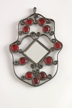 Red Hamsa with mirror by SILVINADESIGNS on Etsy, $30.00