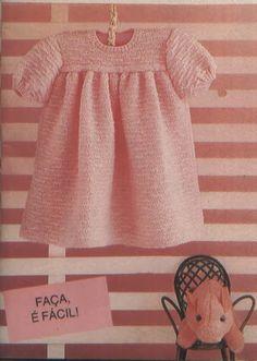 Mania de Tricotar: Vestidinho em tricô p/ bebê