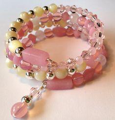 Pink Memory Wire Bracelet by ZandrasJewelry on Etsy, $30.00