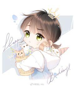 Manga Cute, Cute Anime Chibi, Kawaii Chibi, Cute Anime Pics, Chica Anime Manga, I Love Anime, Kawaii Anime Girl, Anime Art Girl, Anime Guys
