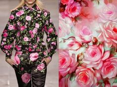 Fashion & Flowers - Maarten Van Der Horst Fall 2012 & Painting from vintage flowers. Collage by Liliya Hudyakova
