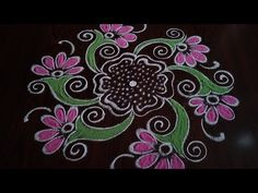 Simple// and easy daily kolam Dot's. Simple Rangoli Designs Images, Rangoli Designs Flower, Rangoli Designs Diwali, Diwali Rangoli, Rangoli Designs With Dots, Flower Rangoli, Kolam Designs, Easy Rangoli Patterns, Special Rangoli