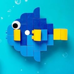 Here you can see a fish made of LEGO® Duplo that was made by BRICKaddict. Lego Duplo, Lego For Kids, Toys For Boys, Lego Fish, Lego Studios, Construction Lego, Mega Blocks, Paw Patrol Toys, Lego Animals