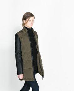 Image 2 of LONG COMBINATION ANORAK from Zara