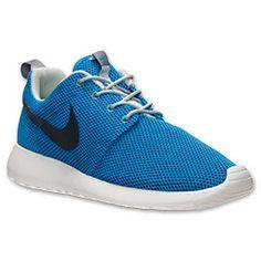 Men's Nike Roshe Run Casual Shoes| FinishLine.com | Photo Blue/Anthracite/Sea Spray
