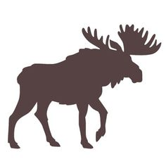This detailed moose silhouette is perfect for all kinds of outdoors, cabin, and Canadian themed designs. Use a plaid print paper for a fun woodsy creations! Moose Silhouette, Animal Silhouette, Silhouette Design, Wood Burning Crafts, Wood Burning Art, Moose Decor, Moose Art, Moose Tattoo, Moose Pictures