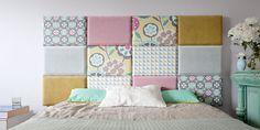 Moduły zagłówek tapicerowany do łóżka, wezgłowie, łóżko z zagłówkiem - Made For Bed