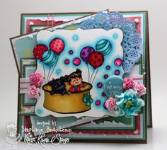 A World of Creative Possibilities: Kraftin' Kimmie Stamps : Wild about you & anything goes