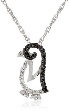 @blackdiamondgem Sterling Silver Black and White Diamond Penguin Pendant Necklace (1/7 cttw) by Amazon Curated Collection - See more at: http://blackdiamondgemstone.com/jewelry/necklaces/sterling-silver-black-and-white-diamond-penguin-pendant-necklace-17-cttw-com/#!prettyPhoto