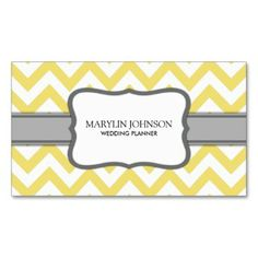 88 best custom business cards images on pinterest custom business yellow chevron wedding planner double sided standard business cards pack of make your own business card with this great design reheart Choice Image
