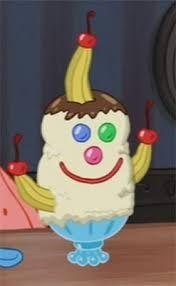 goofy goober sundae in spongebob meme chocolate