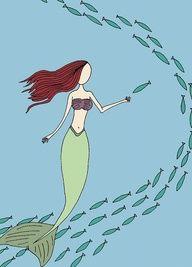 mermaid & fish