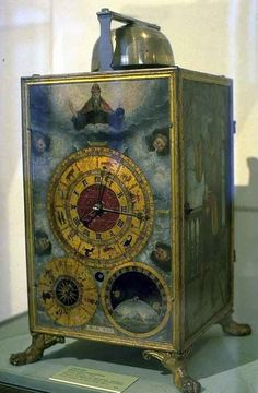 Clock Hourglass Time: Master of the Donau School | Painted #Clock. | 1545 | Austrian.