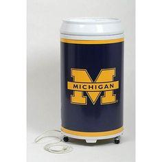 Michigan Wolverines Cooler Beverage Fridge