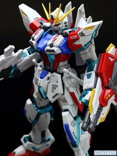 GUNDAM GUY: MG 1/100 GAT-X105B/ST Star Build Strike Gundam [RG System] - Painted Build via Master File