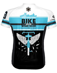 The back of the 4th Annual Cactus Bike From Work Bash presented by Primal limited edition Jersey