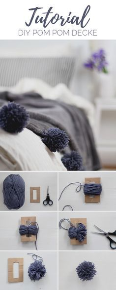 diy decke mit pompons selber machen is part of Dog clothes diy - DIY Decke mit Pompons selber machen Easyart PomPoms Diy Simple, Easy Diy, Make Your Own Blanket, Craft Projects, Sewing Projects, Baby Diy Projects, Diy Baby, Diy Clothes, Sewing Clothes