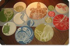 Sea life dishes