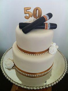 Cigar Anniversary Cake