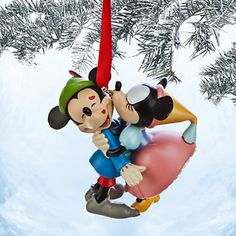 Disney Store - Mickey and Minnie Mouse Sketchbook Ornament - The Brave Little…