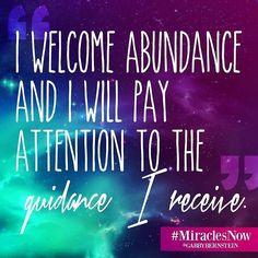 By @gabbybernstein #miraclesnow #abundance #guidance #affirmation
