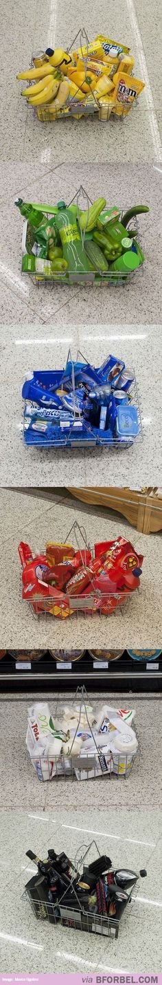 Grocery Shopping According To Color…