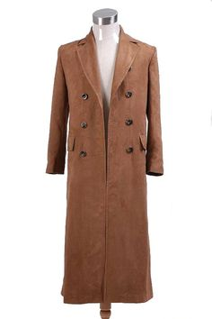 Brown Long Trench Coat at Amazon Men's Clothing store: