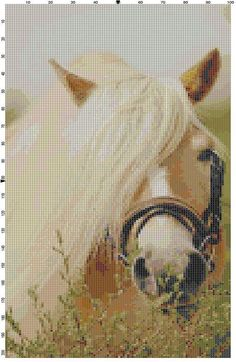 Cross Stitch Pattern Beautiful Blonde Horse by theelegantstitchery, $10.00