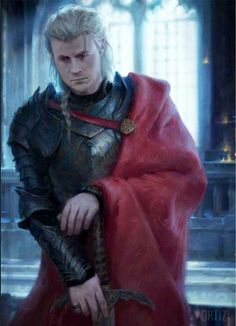 First look of Rhaegar Targaryen, Daenerys' late older brother (illustration from The World of Ice and Fire)